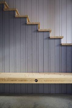 "Haus Laanz ""Stadl"", Parkstetten - ediundsepp – Lang Hugger Rampp Stairs, Interior, House, Home Decor, New Construction, Sustainability, Build House, Architecture, Homes"