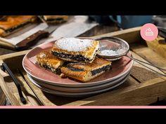 Makové rezy|Komora slovenských gazdín - YouTube Pancakes, Breakfast, Ethnic Recipes, Food, Youtube, Basket, Morning Coffee, Essen, Pancake