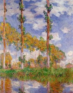 Three Trees in Summer - Claude Monet. Oil on Canvas. 1891. National Museum of Western Art. Tokyo, Japan.