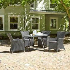Pöytä BREKSTAD Ø120cm + 4 tuolia MOELV Outdoor Furniture Sets, Outdoor Decor, Decor, Furniture, Outdoor Furniture, Home, Furniture Sets, Home Decor, Settings