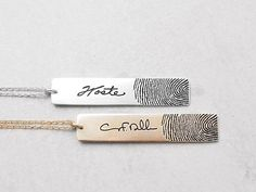 Personalized Fingerprint Necklace - for keeping someone near your heart.