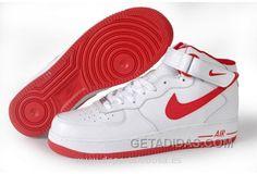 buy popular ca9bc 04899 Nike Air Force 1 High Mujer Classic Blanco Rojas (Nike Air Force 1 High  Venta) Authentic, Price 68.38 - Adidas Shoes,Adidas  Nmd,Superstar,Originals