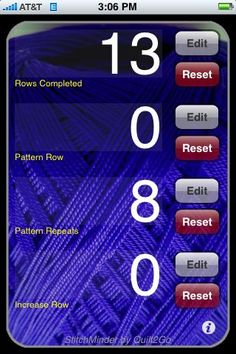 Calling all knitters! This one is for you. This free app turns your phone into a digital counter that can keep track of rows completed, pattern rows, increase rows, and repeats.