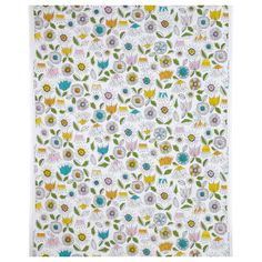SMÅBORRE Fabric - IKEA per metre for curtains with duck egg blue roller blind Pillow Fabric, Curtain Fabric, Curtain Material, Ikea 2014, Ikea Fabric, Motif Floral, Floral Fabric, Cotton Fabric, Diy Supplies