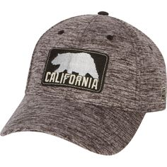 California Bear Appliqué Stretch Fit Hat - Black Heather