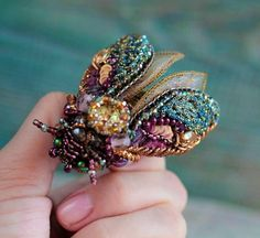 Spring is on the way and i collected beautiful bead embroidered butterflies and moths. I
