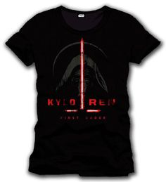 Camiseta Kylo Ren First Order. Star Wars Episodio VII Estupenda camiseta con el título Kylo Ren First Order, perteneciente al film Star Wars Episodio VII: El Despertar de la Fuerza, 100% oficial, licenciada y fabricada en material 100% algodón.