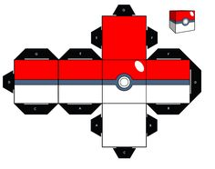 Pokemon Papercraft Pokeball Essential for Beeing A Pokemon Master Paper toys Pokemon Papercraft, Pokemon Craft, Festa Pokemon Go, Pokemon Party, Pokemon Printables, Paper Cube, Pikachu, Charmander, Gameboy Pokemon