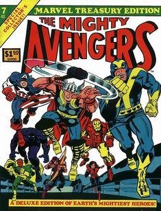 Marvel Treasury Edition #7 (1974 series) - cover by Jack Kirby