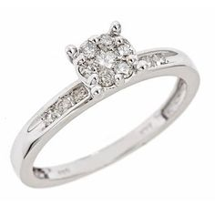 1/3 CT. T.W. Round Cut Diamond Ladies' Engagement Ring 10K White Gold Women's Engagement Ring - Free Gift Box - MyTrioRings, http://www.amazon.com/dp/B005VWRBBS/ref=cm_sw_r_pi_dp_-1parb0N0W8SD