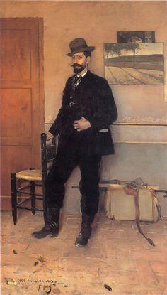 Retrato de Rusinol 1889, Casas  Casas retrata a Rusiñol