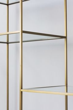 Bert Frank shelving unit in rosewood and antique brass.