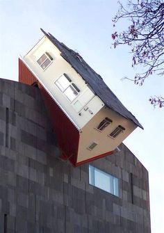 house attack - Viena, Austria - by Erwin Wurm !