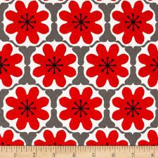 Mod Studio Damask in Red from Riley Blake by FabricCloseouts, $8.50