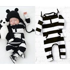 Newborn Infant Baby Boy Girl Long Sleeve Romper Jumpsuit Bodysuit Outfit Clothes
