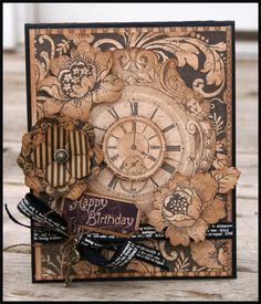 Beautiful Kraft Reflections Birthday Card by Stacy Rodriguez! #graphic45 #cards