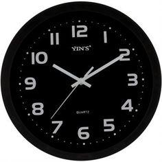 Relógio de Parede Yins YI15112-1 Preto 29m - Megazim