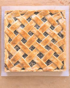 Easter Pie Recipe -- made with ricotta, dry Italian sausage, fresh mozzarella, Parmesan cheese, and Italian parsley.