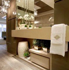 O lavabo merece uma decoração sofisticada e requintada para surpreender as…