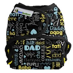 Best Bottom Diaper ~ Daddy Love print because dad deserves some lovin' too #ilovenickisdiapers