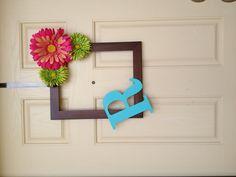 Picture frame door wreath!