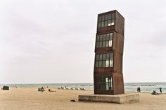 Rebecca Horn Sculpture | by Shawn Hoke_Barceloneta beach
