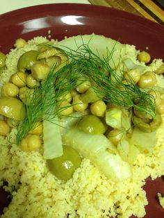 Cous cous with Chickpea, Fennel and Citrus- Full of belly filling ...