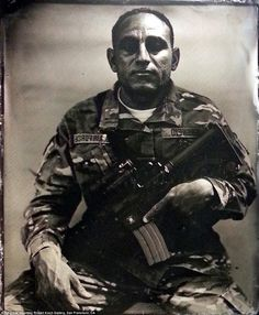 The unchanging face of war: Soldier uses Civil War era tintype camera to capture America's modern-day warriors