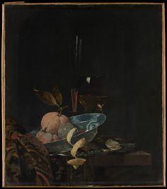 Willem Kalf (Dutch, 1619–1693). Still Life with Fruit, Glassware, and a Wanli Bowl, 1659. The Metropolitan Museum of Art, New York. Maria DeWitt Jesup Fund, 1953 (53.111)