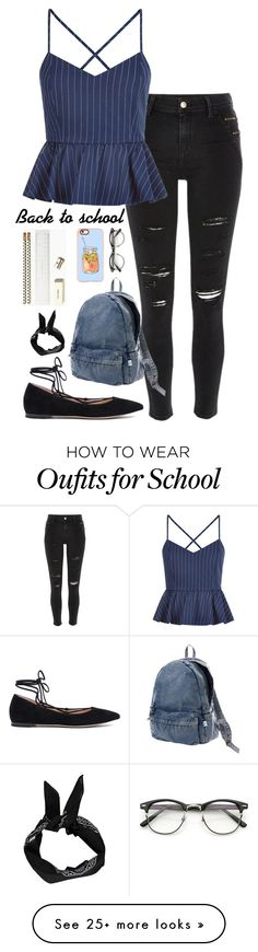 """Back to school"" by musicwildlife on Polyvore featuring River Island, New Look, Gianvito Rossi, Issey Miyake, Casetify, ZeroUV and Kate Spade"