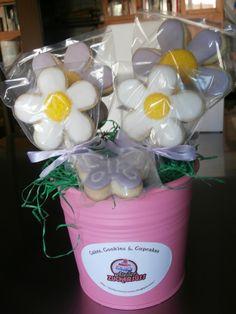 Flower cookies bouquet