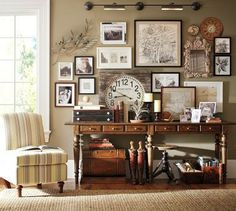 Shop console table from Pottery Barn. Our furniture, home decor and accessories collections feature console table in quality materials and classic styles. Sweet Home, Benjamin Moore Paint, Furniture Upholstery, Home And Deco, My New Room, Vintage Decor, Vintage Clocks, Vintage Style, Vintage Room