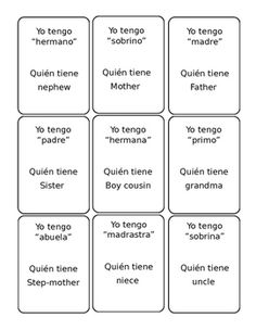 This quick game is a great review or practice to enhance family vocabulary. Give…
