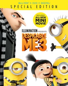 Make it a #MerryMinions Christmas with #DespicableMe3 now out on Blu-ray/DVD