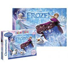 Frozen puzzel Glitter 104 st. Legpuzzel met karakters van de Disney film Frozen. Geschikt voor kinderen vanaf 6 jaar