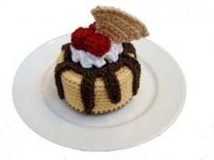 Gâteau au chocolat (mignardises) au crochet - modèle gratuit • Hellocoton.fr