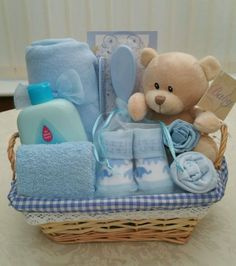 baby boy small teddy gift hamper new view more on the link
