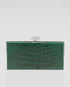 hermes paris handbags - Hermes Emerald (Vert Emeraude) Kelly Cut of porosus crocodile with ...