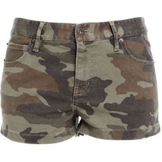 Bardot Camo Short ($30) ❤ liked on Polyvore featuring shorts, bottoms, pants, short, print, stretchy shorts, camo short shorts, camo shorts, tall shorts and zipper shorts
