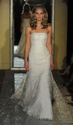 Lace and Crystal Perfection From Oleg Cassini at David's Bridal Spring 2017 | TheKnot.com