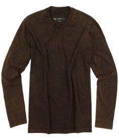 GEORG ROTH LOS ANGELES - Long Sleeve V-Neck - brown washed, $115.00 (http://www.georgrothlosangeles.com/long-sleeve-v-neck-brown-washed/)