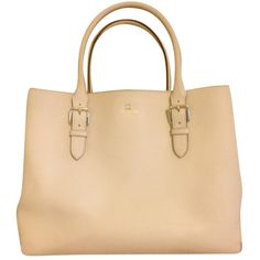 Pre-owned Kate Spade Cove Street Airel Cream Tote Bag ($156) ❤ liked on Polyvore featuring bags, handbags, tote bags, cream, kate spade tote, handbags totes, travel tote, weekender bag and evening handbags