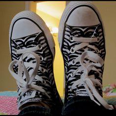 Zebra Converse(: Raine would love these!