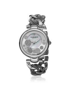 Akribos XXIV Women's AK643SS Silver/White Mother of Pearl Base Metal Watch, http://www.myhabit.com/redirect/ref=qd_sw_dp_pi_li?url=http%3A%2F%2Fwww.myhabit.com%2Fdp%2FB00PH5TTFK%3F