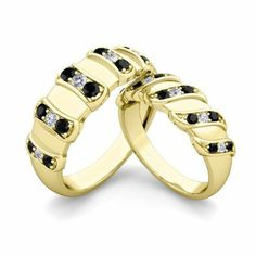 #matchingweddingbands #blackdiamond Matching Wedding Bands | Unique Black Diamond Wedding Ring Band in 14k Yellow Gold Diamond Anniversary Ring His and Hers Rings - See more at: http://blackdiamondgemstone.com/his-and-hers-wedding-bands-sets/matching-wedding-bands-unique-black-diamond-wedding-ring-band-in-14k-yellow-gold-diamond-anniversary-ring-his-and-hers-rings/#sthash.WB0Iph38.dpuf