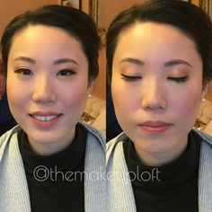 Simple bridal makeup with eyeliner and nude lip