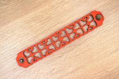 Items similar to Leather Bracelet Orange love, Leather Cuff, Jewelry, Ladies Leather Bracelets, Orange Leather on Etsy Leather Bracelets, Leather Cuffs, Feel Unique, Cuff Jewelry, Orange Leather, Metal Buttons, Delicate, Lady, Products