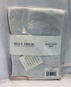 Womens Infinity Scarf Sand Ombre Viscos 20 x 70 Bella Taylor #BellaTaylor