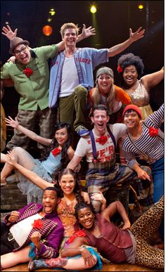 Cast of Godspell (The Revival) super excited for this show next year! The music is fantastic and it looks sooooo  fun!