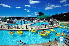 The Water Mine Family Swimmin' Hole in Reston offers more than an acre of slides, flumes, sprays, showers, floatables and interactive play features, circled by Rattlesnake River with a 2.5 mile per hour current that gently nudges tubes along.